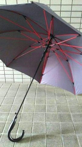 赤い骨の傘 ダークグレー.JPG